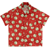Aloha Shirt - Japanese Springtime Red | Naked & Famous Denim