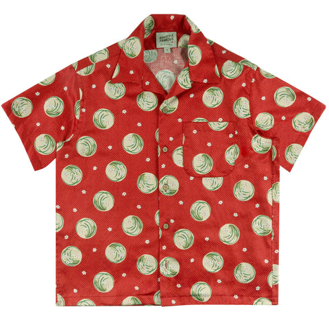 Aloha Shirt - Japanese Springtime Red