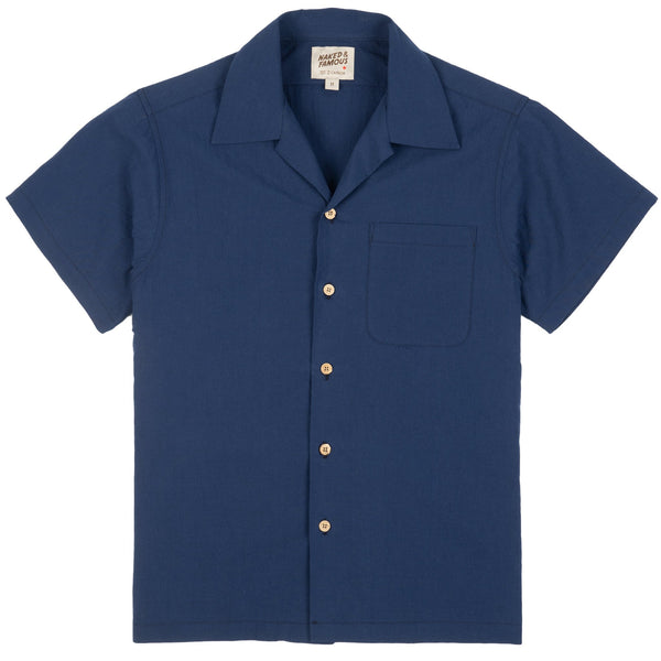 Aloha Shirt - Washed Chambay - Blue