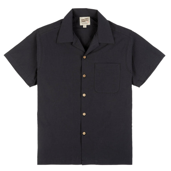 Aloha Shirt - Washed Chambray - Black