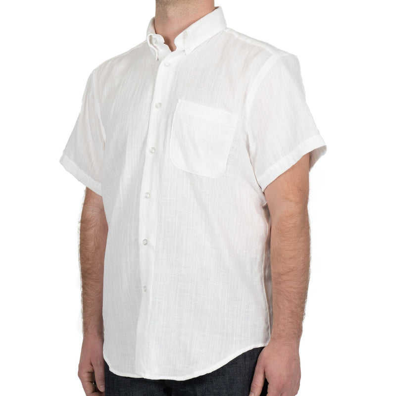 Short Sleeve Easy Shirt - Double Weave Gauze - White