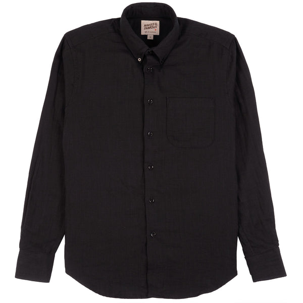 Easy Shirt - Double Weave Gauze - Black