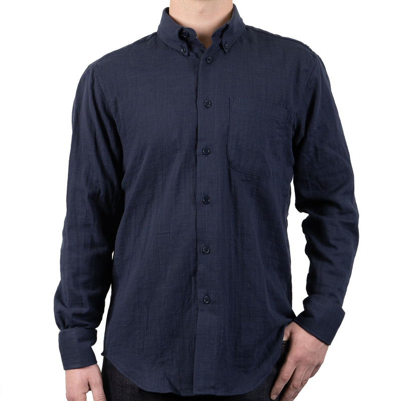 Easy Shirt - Double Weave Gauze - Navy