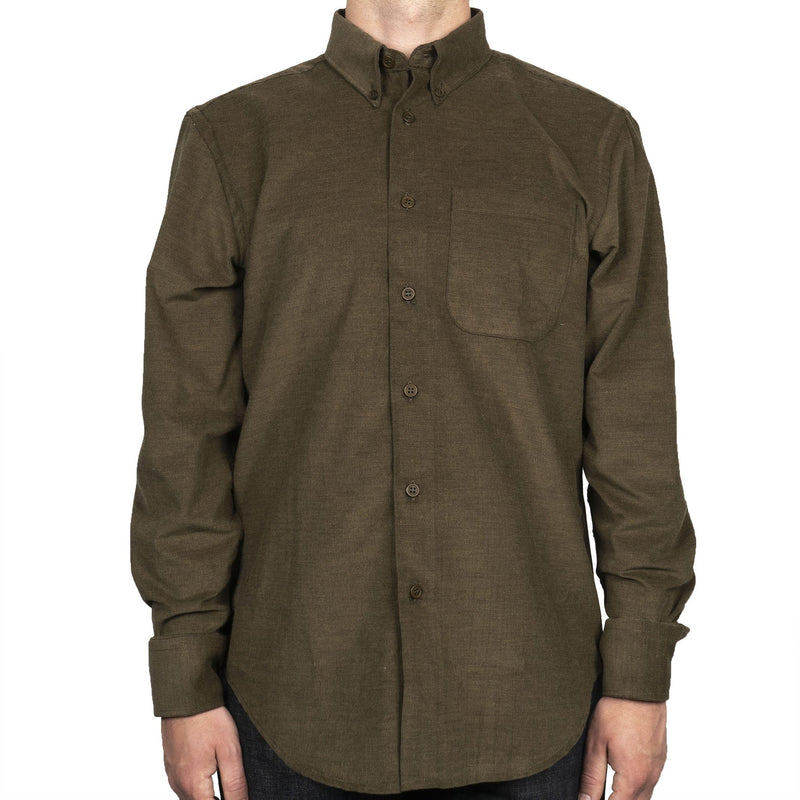 Easy Shirt - Yarn Dyed Corduroy - Khaki - front