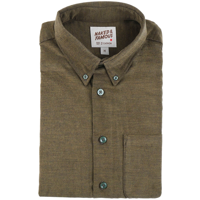 Easy Shirt - Yarn Dyed Corduroy - Khaki - main