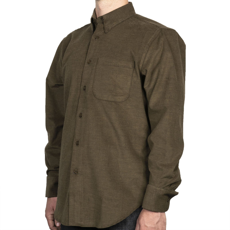 Easy Shirt - Yarn Dyed Corduroy - Khaki - side