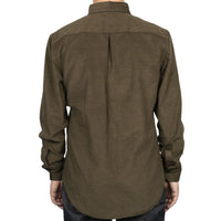 Easy Shirt - Yarn Dyed Corduroy - Khaki - back