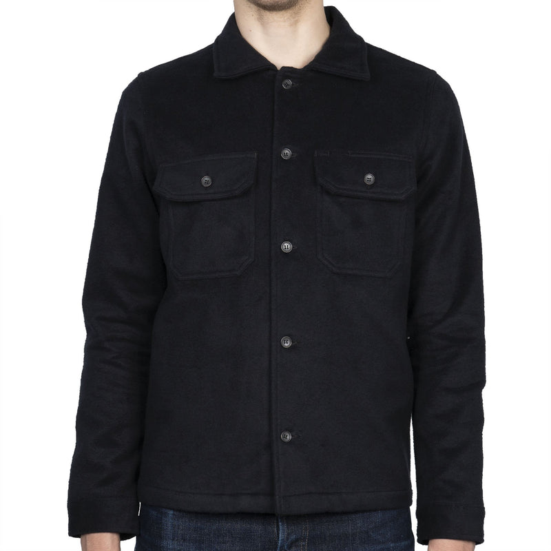 Work Shirt - Cotton Melton - Black- front