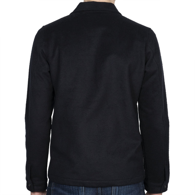 Work Shirt - Cotton Melton - Black - back