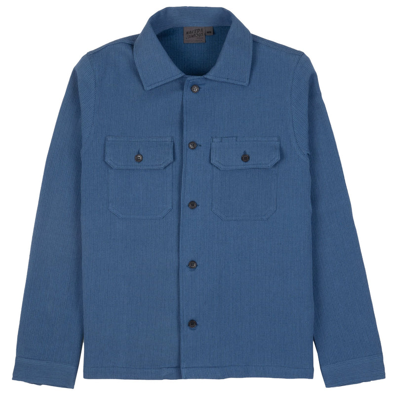 Work Shirt - Loose Weave Dobby - Pale Indigo