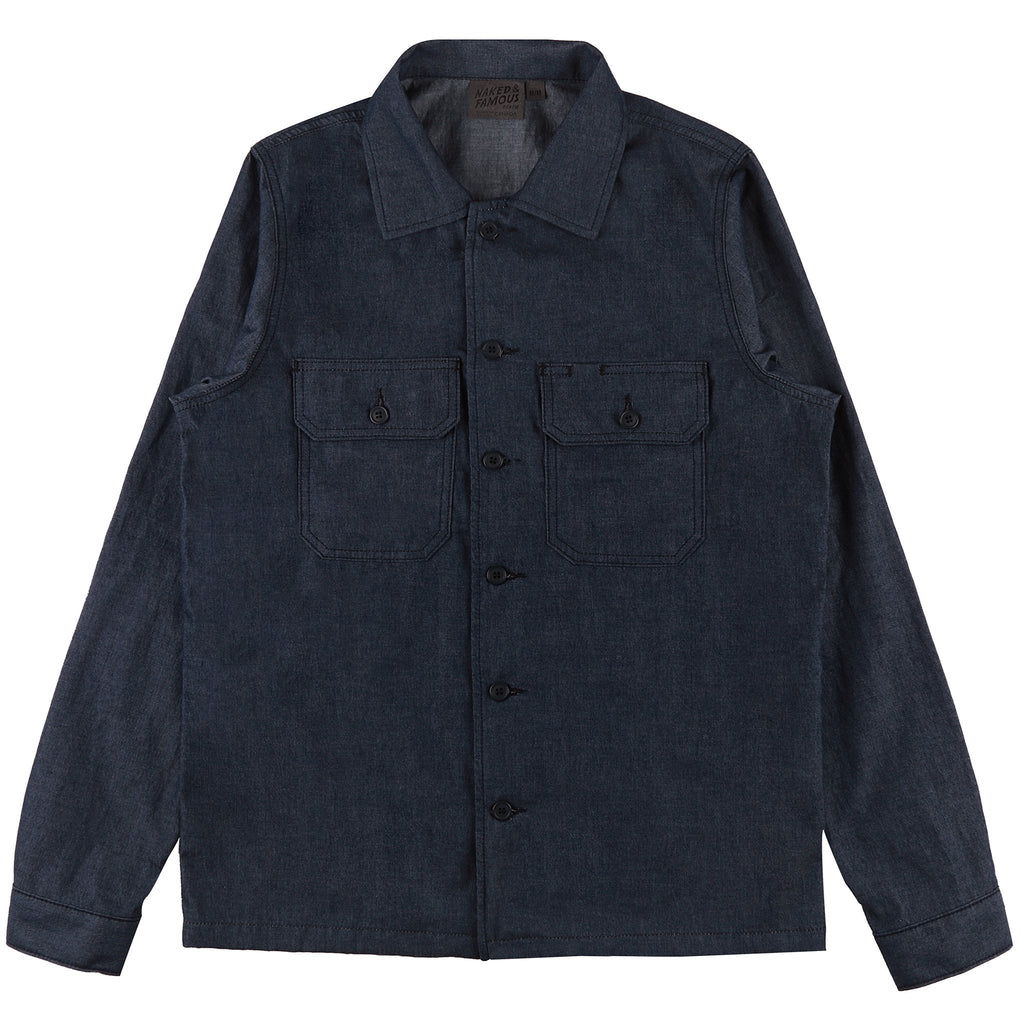 Work Shirt - 4.5oz Denim - Indigo| Naked & Famous Denim