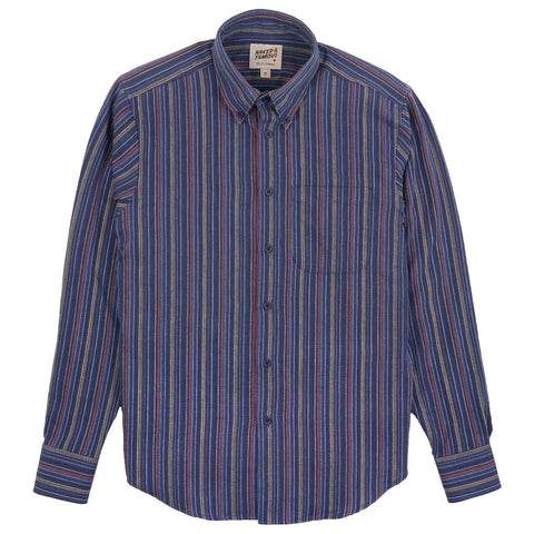 Easy Shirt - Indigo Vintage Stripes