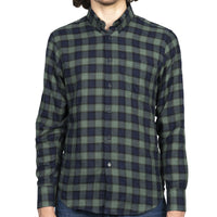 Easy Shirt - Herringbone Plaid - Green - front