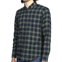 Easy Shirt - Herringbone Plaid - Green - side