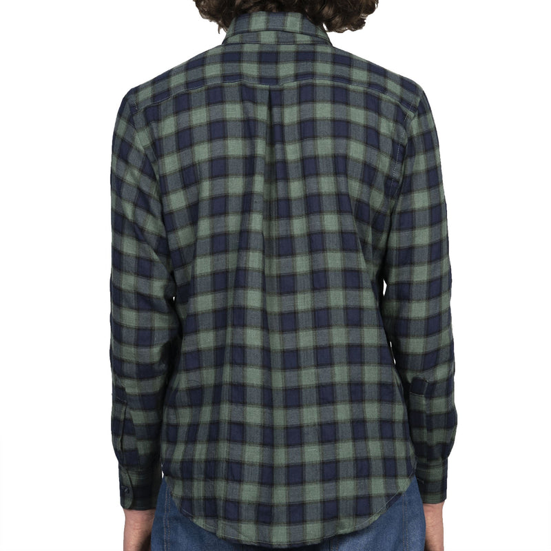 Easy Shirt - Herringbone Plaid - Green - back