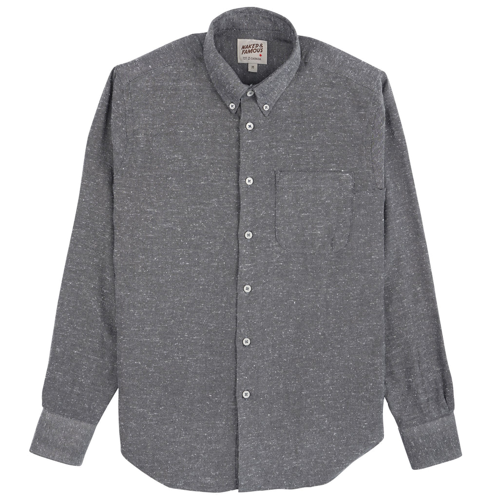 Easy Shirt - Silk Blue Nep Twill - Grey