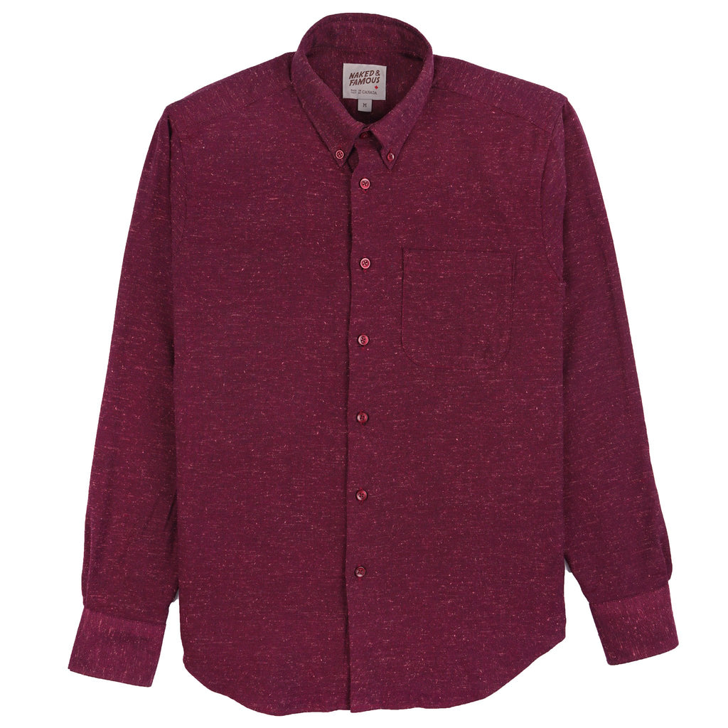 Easy Shirt - Silk Blend Nep Twill - Wine