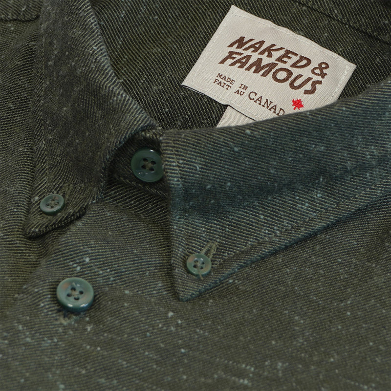 Easy Shirt - Silk Blend Nep Twill - Green