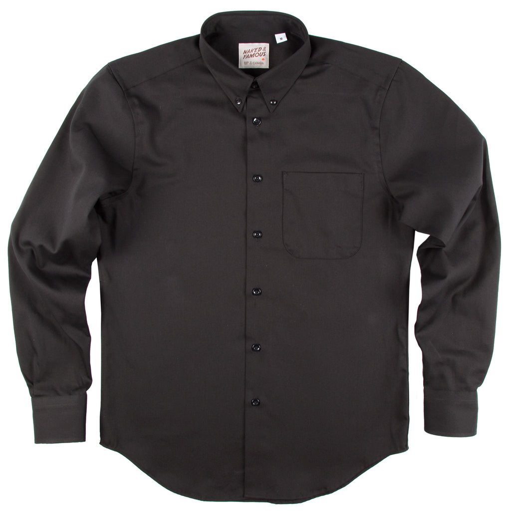 Regular Shirt - Black Oxford
