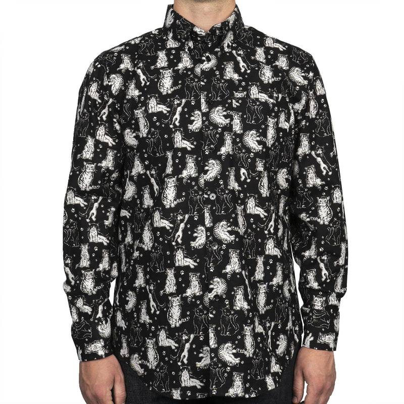 Easy Shirt - Cute Cats - Black - front