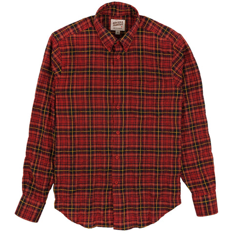 Easy Shirt - Folk Flannel - Red/Yellow