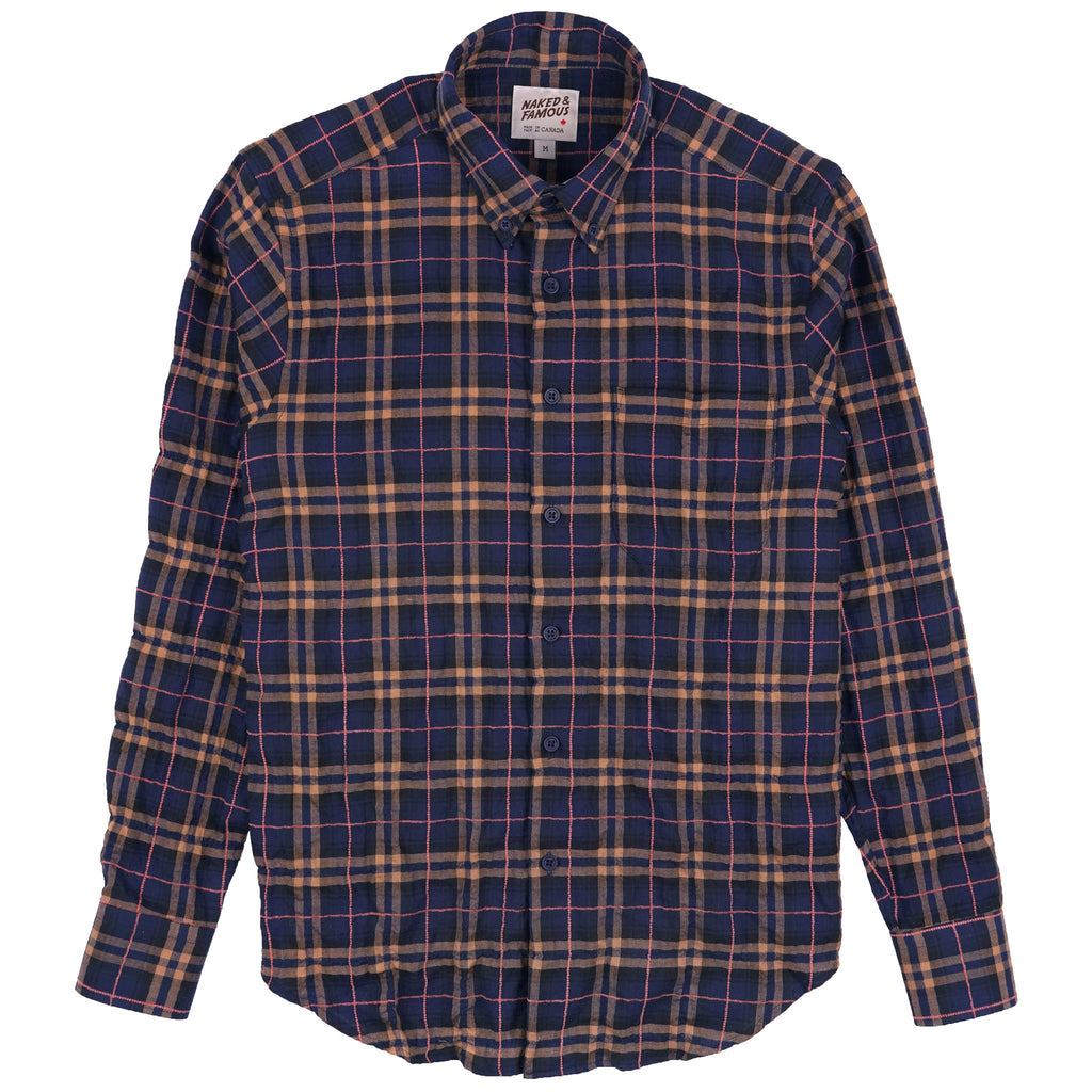 Easy Shirt - Folk Flannel - Navy/Pink