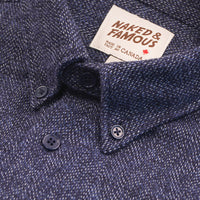 Easy Shirt - Cotton Tweed - Blue
