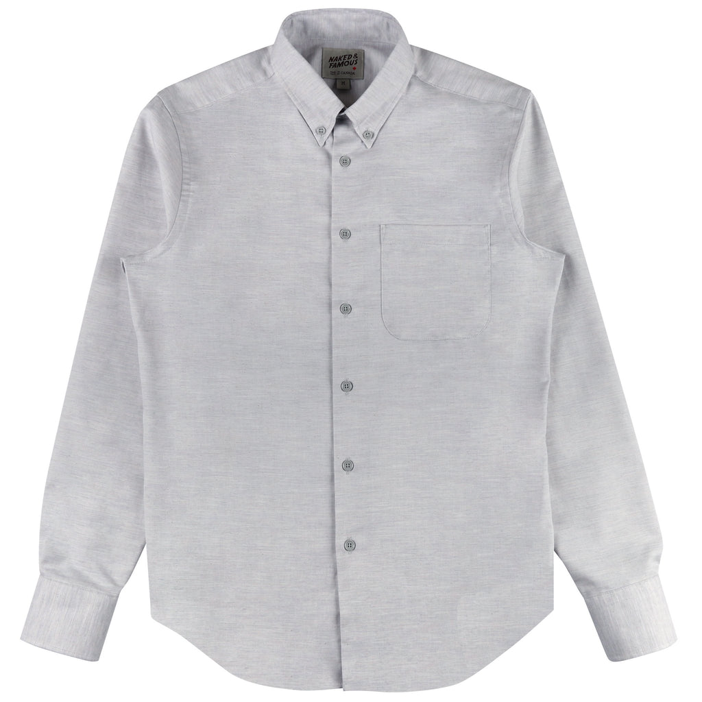 Regular Shirt - Flower Dyed Oxford Black Mallow