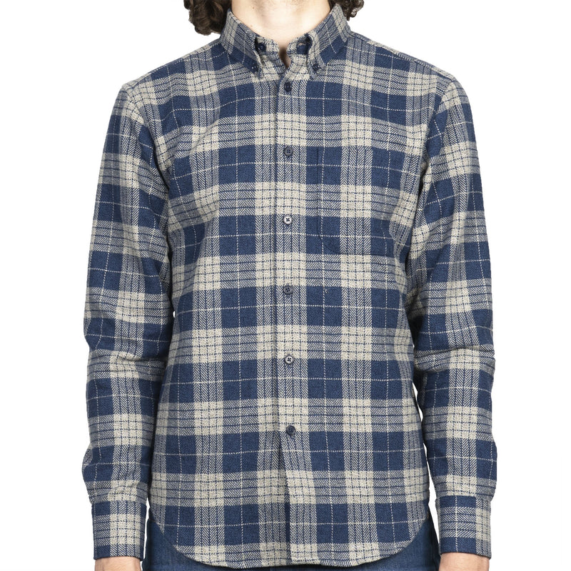 Easy Shirt - Triple Twist Yarn Vintage Flannel - Blue - front