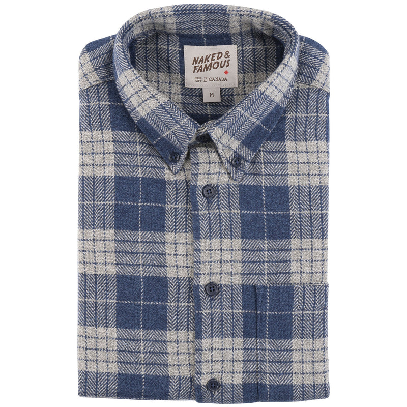 Easy Shirt - Triple Twist Yarn Vintage Flannel - Blue - main