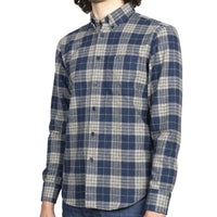 Easy Shirt - Triple Twist Yarn Vintage Flannel - Blue - side