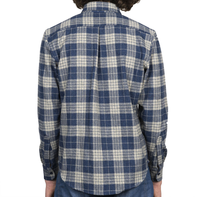 Easy Shirt - Triple Twist Yarn Vintage Flannel - Blue - back