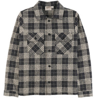 Work Shirt - Triple Twist Yarn Vintage Flannel - Grey - front