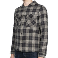 Work Shirt - Triple Twist Yarn Vintage Flannel - Grey - side