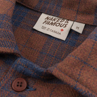 Work Shirt - Triple Twist Yarn Vintage Flannel - Rust - collar