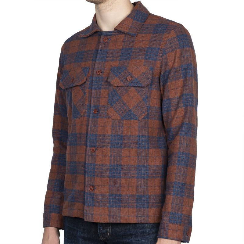 Work Shirt - Triple Twist Yarn Vintage Flannel - Rust - side