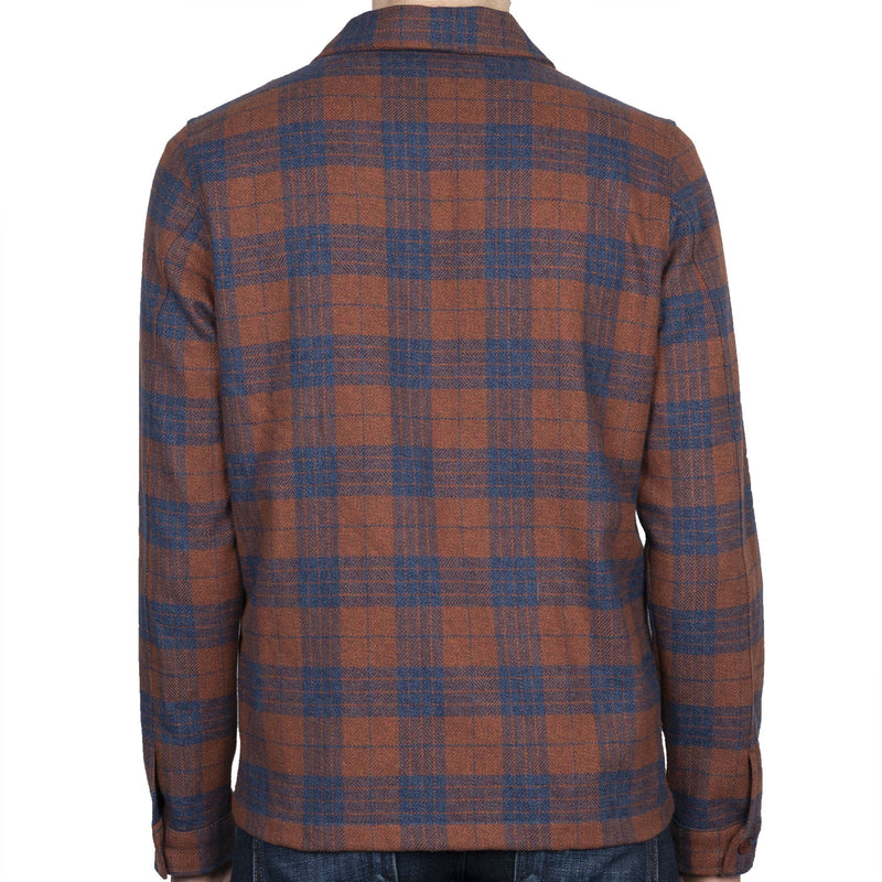 Work Shirt - Triple Twist Yarn Vintage Flannel - Rust - back