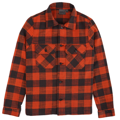 Work Shirt - Slubby Buffalo Check - Orange