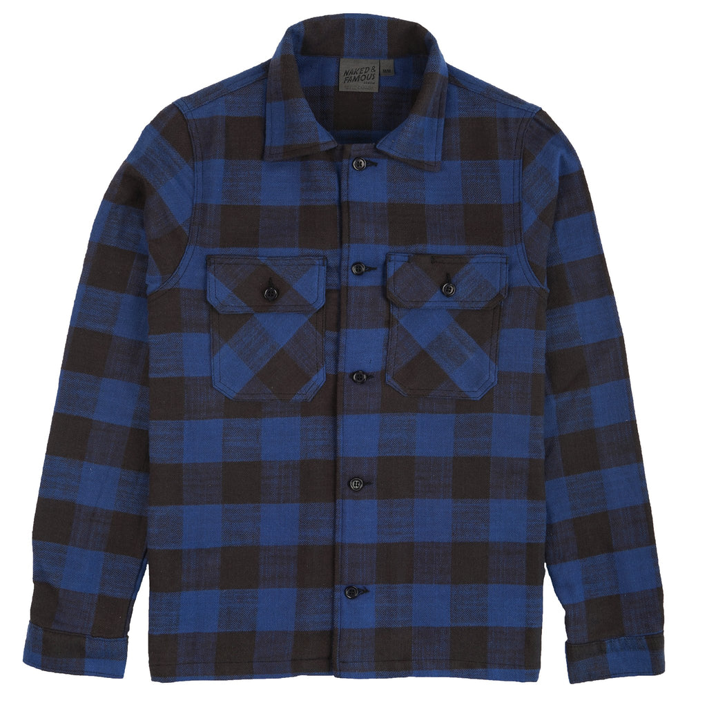 Work Shirt - Slubby Buffalo Check - Blue