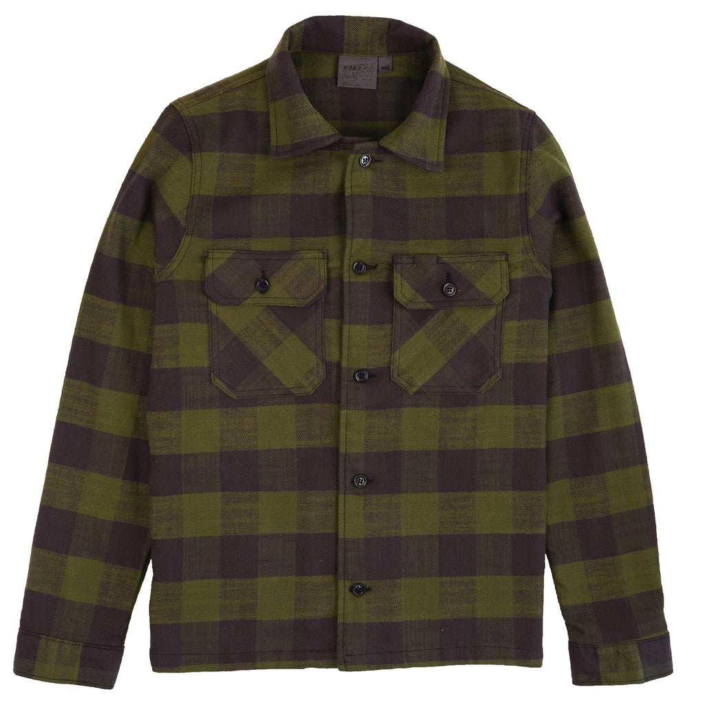 Work Shirt - Slubby Buffalo Check - Green