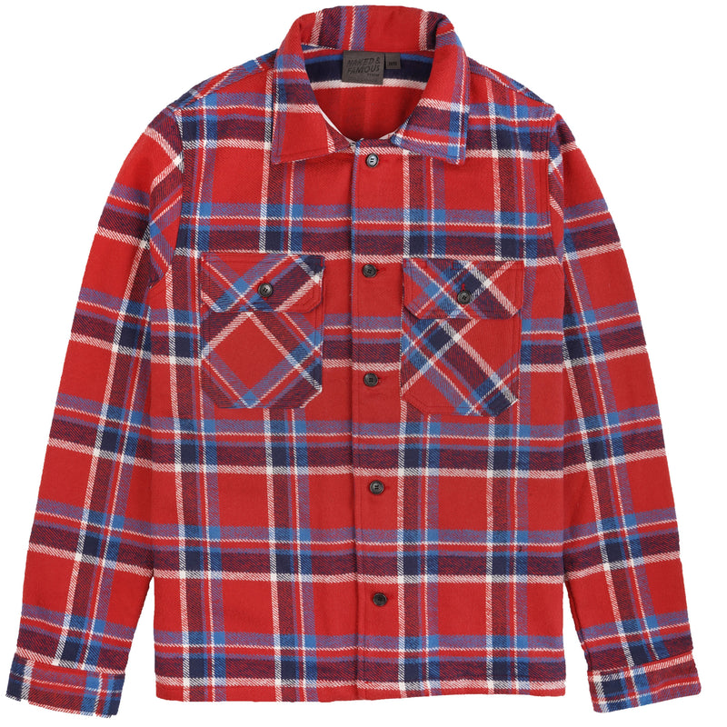Work Shirt - Heavyweight Vintage Flannel - Red - front