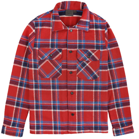 Work Shirt - Heavyweight Vintage Flannel - Red