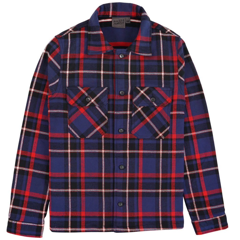 Work Shirt - Heavyweight Vintage Flannel - Navy