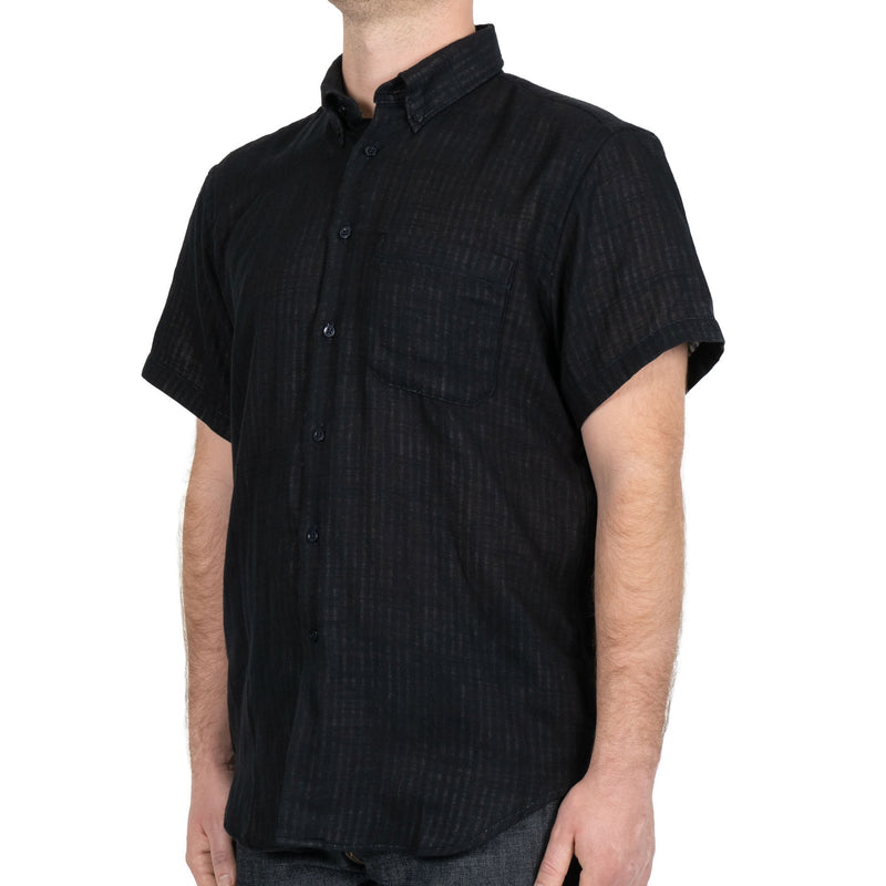 Short Sleeve Easy Shirt - Double Faced Twill - Black