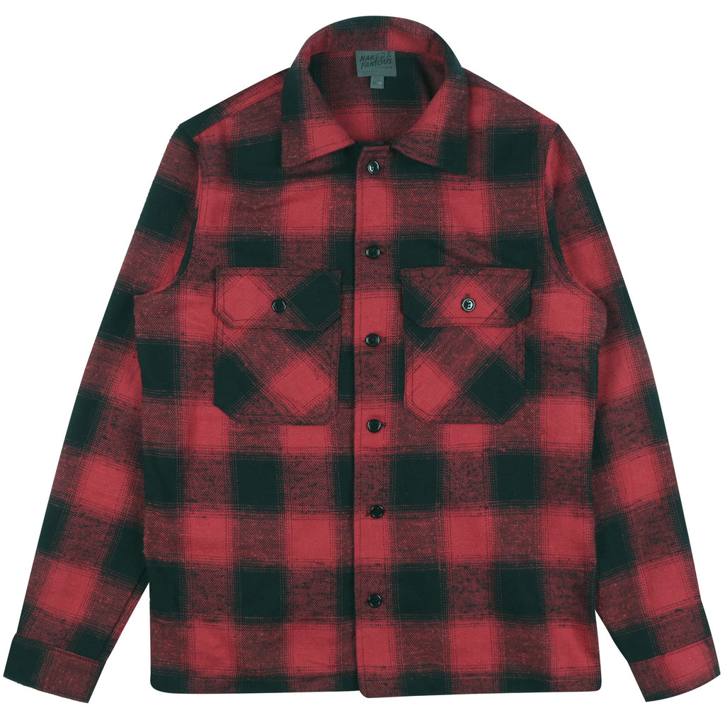 Red Flannel Work Shirt by Naked & Famous Denim