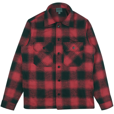 Work Shirt - Nep Buffalo Check Red/Black | Naked & Famous Denim