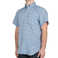 Short Sleeve Easy - Double Faced Twill - Pale Blue