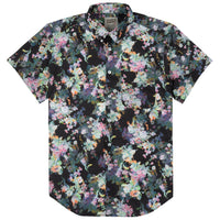Short Sleeve Easy Shirt - Flower Painting - Black