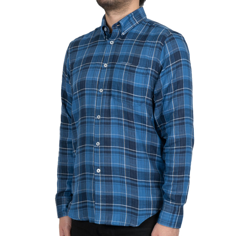 Easy Shirt - Double Faced Check - Dark Blue