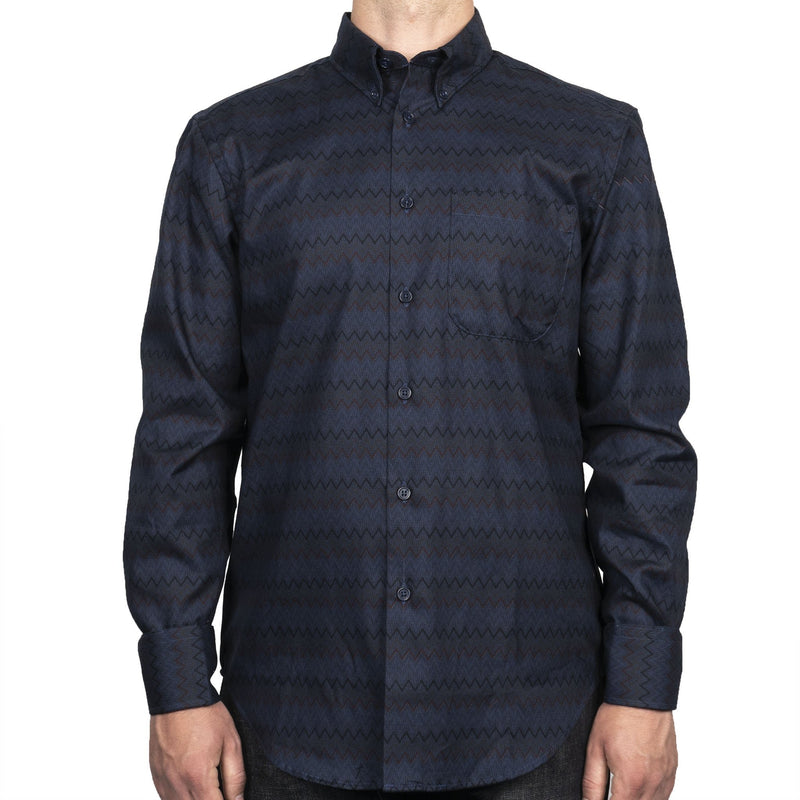 Easy Shirt - Zig Zag - Blue - front